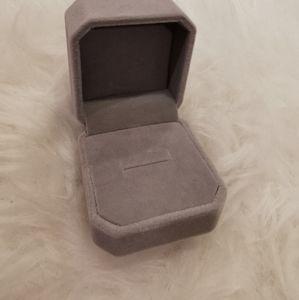 Grey Velvet Ring Box